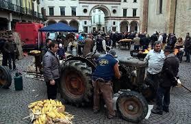 contadini in piazza