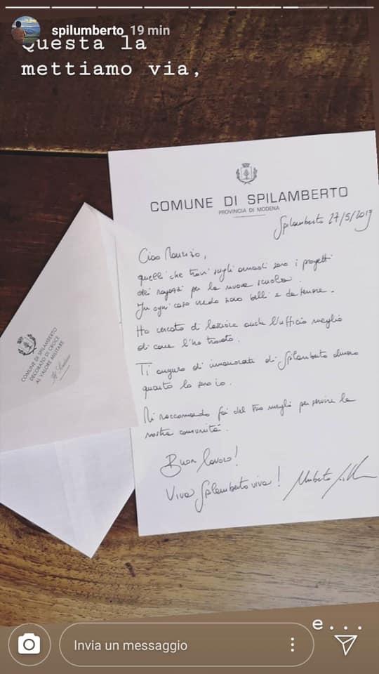 costantini saluta Forte come nuovo sindaco